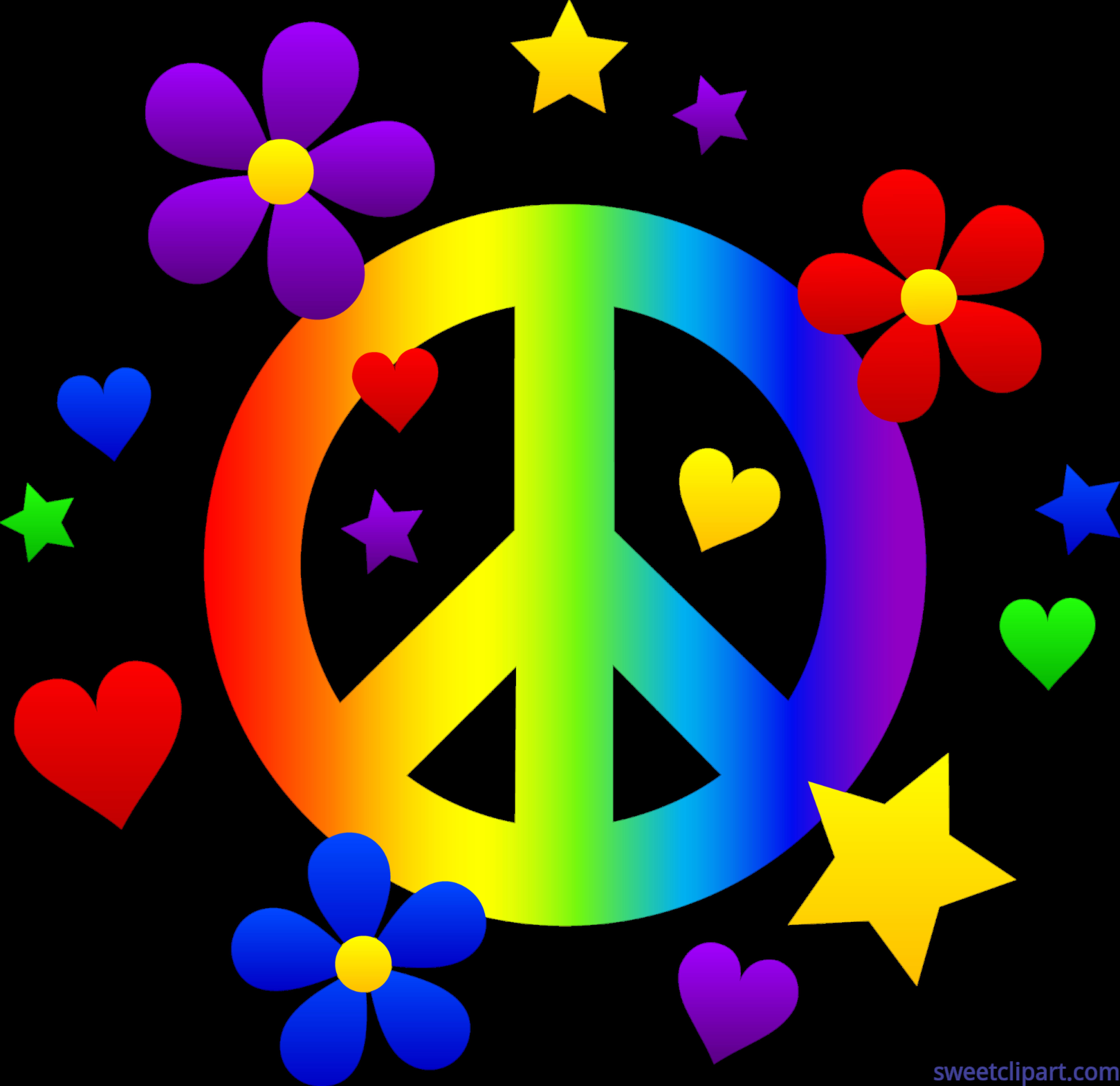 Rainbow sign clip art. Peace clipart peace border