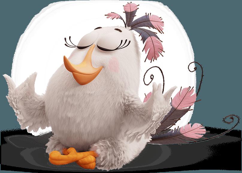 Characters angry birds matilda. Clipart girl bird
