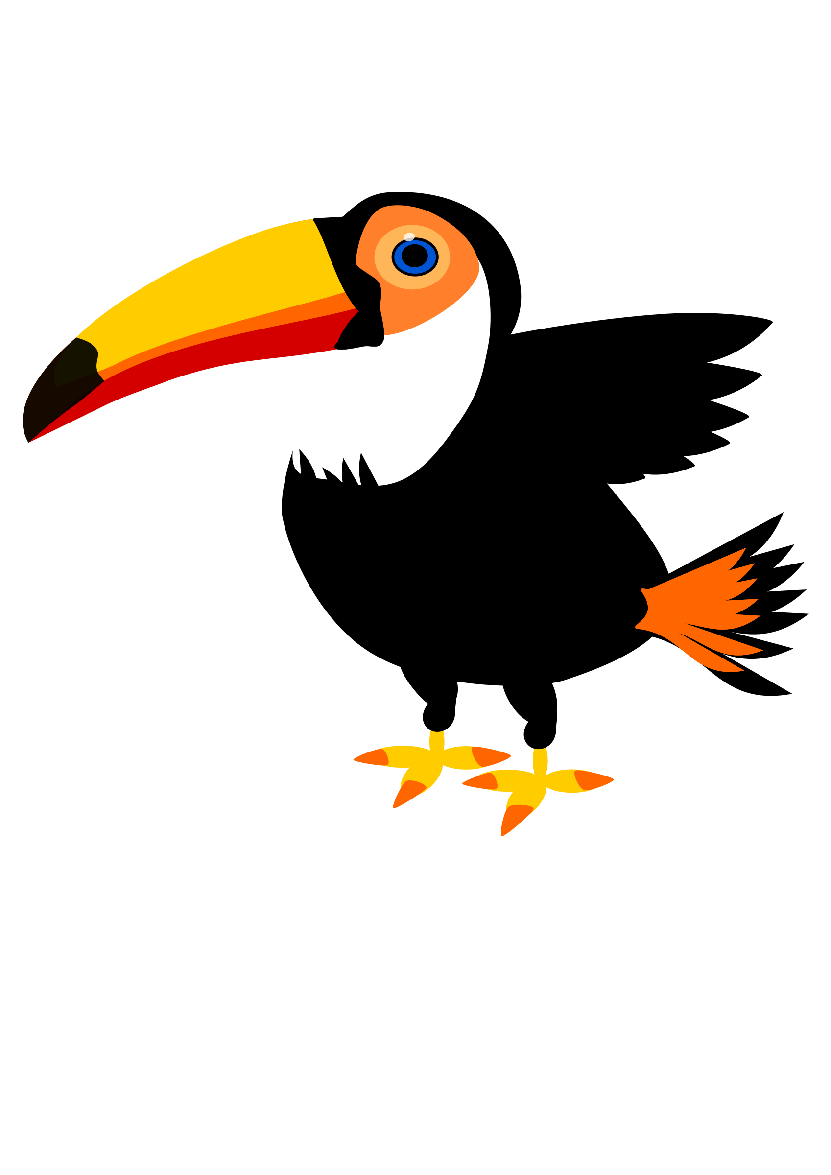 Toucan. Emergency clipart animated