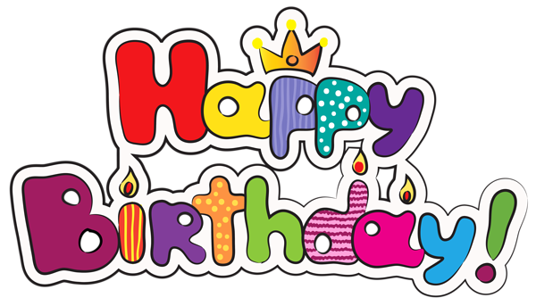Colorful happy png image. Clipart birthday