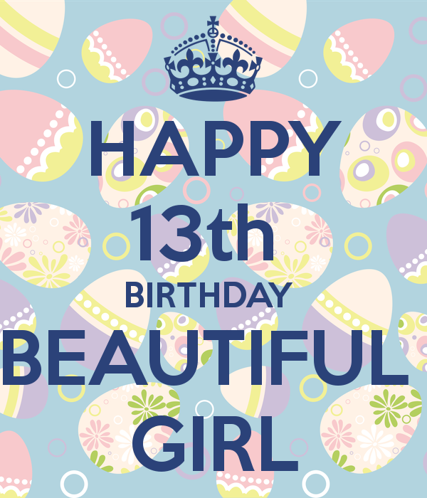 Happy th beautiful girl. Clipart birthday 13th