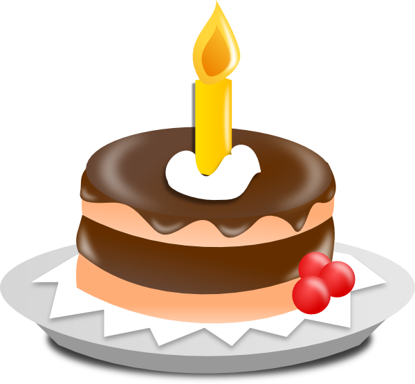 Clipart images cake.  st birthday panda