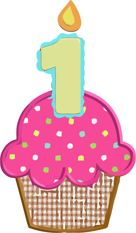 Clipart trees cupcake.  st birthday picture