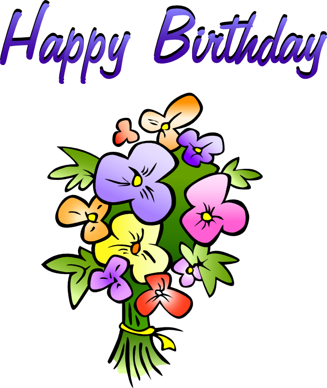Free animations vectors floral. April clipart happy birthday