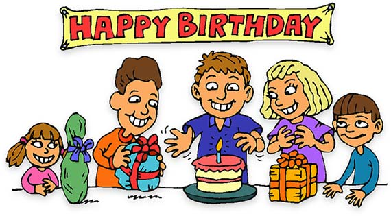 Clipart birthday. Free animations party children