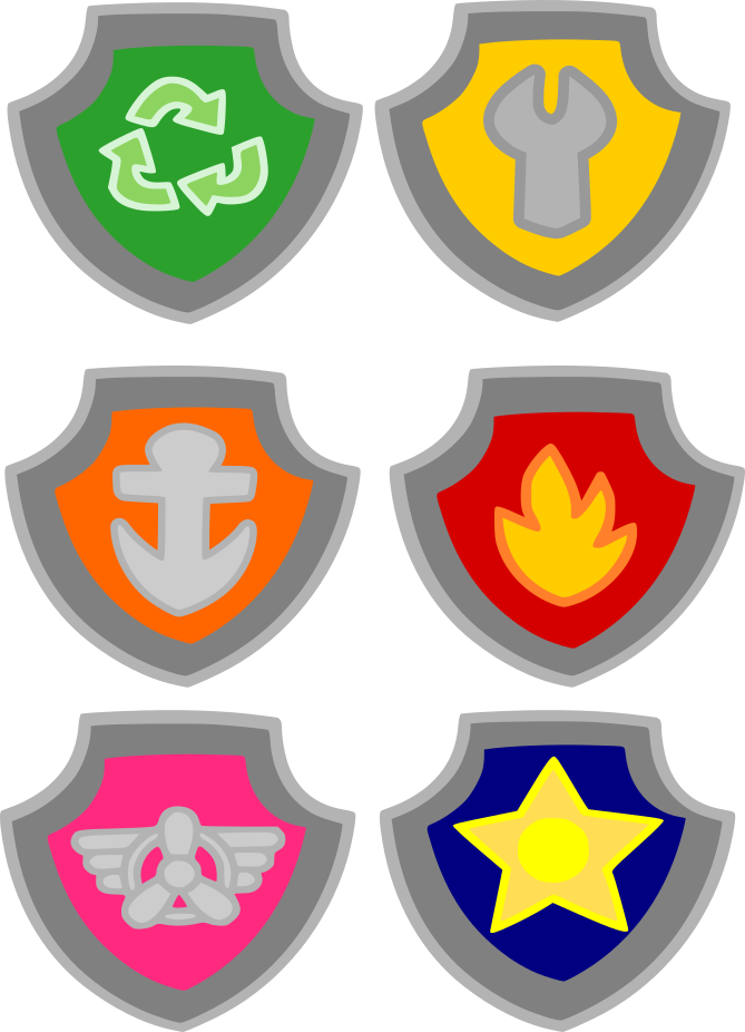 Crafting with meek badges. Clipart car paw patrol