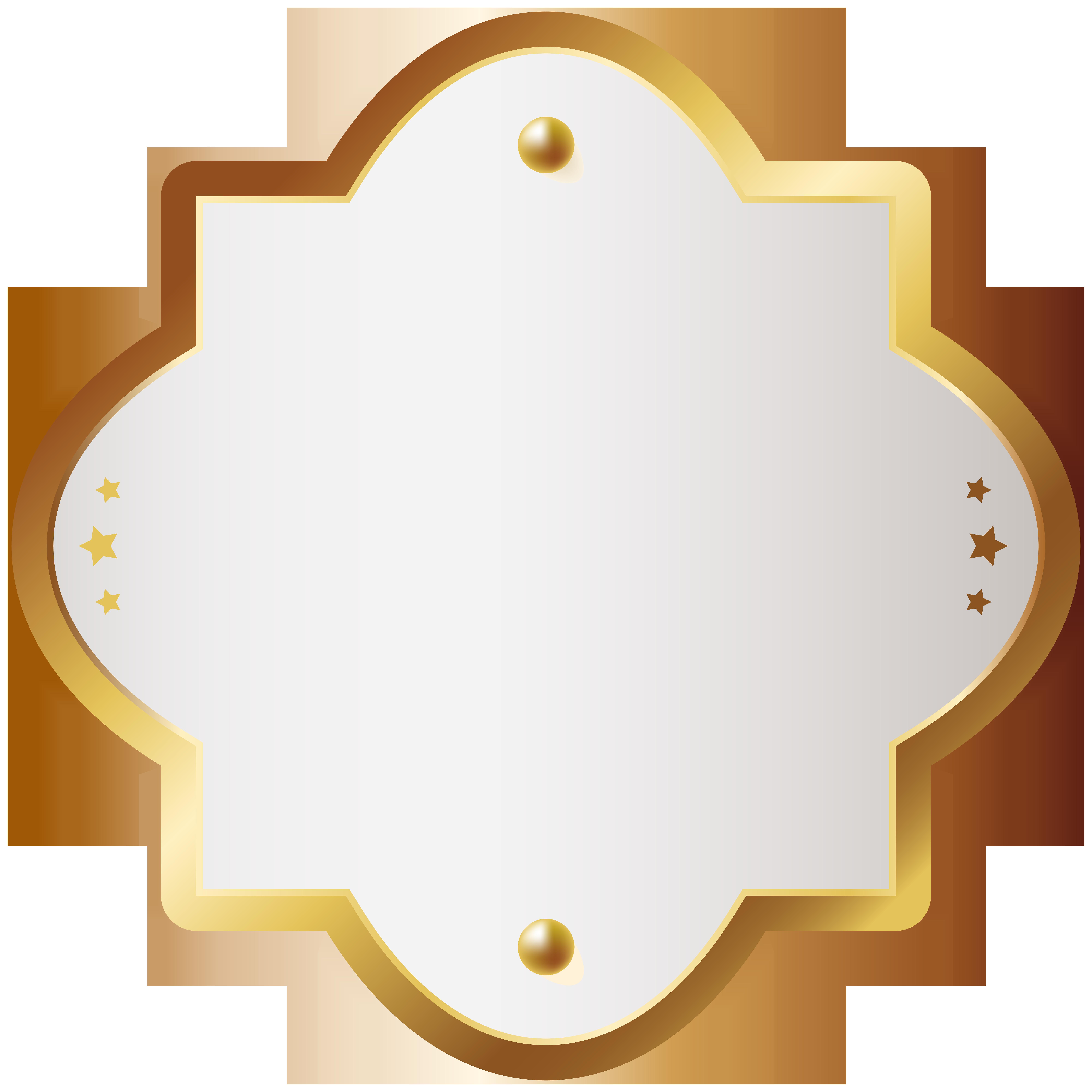 Facebook clipart badge. Decorative gold clip art