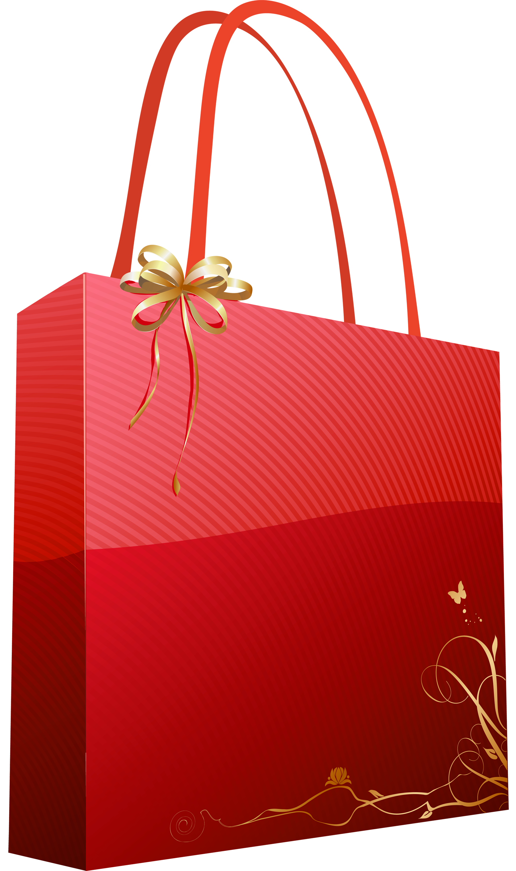 Red png giftbag picture. Gift clipart gift bag