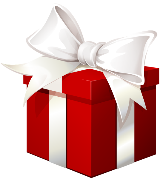 Gift clipart gift bag. Red box with white