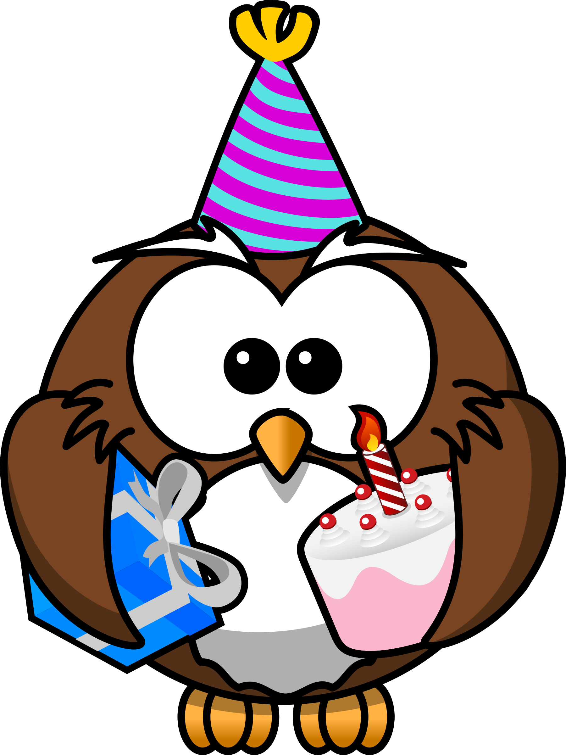 October clipart cute. Owl party big image