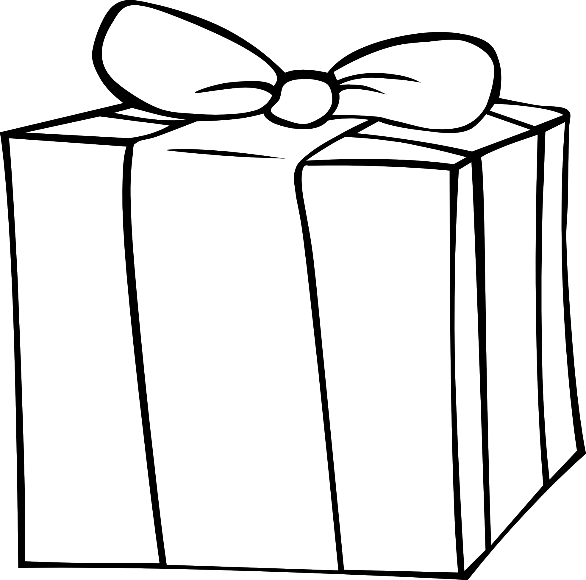 Gift clipart outline. Birthday presents black and