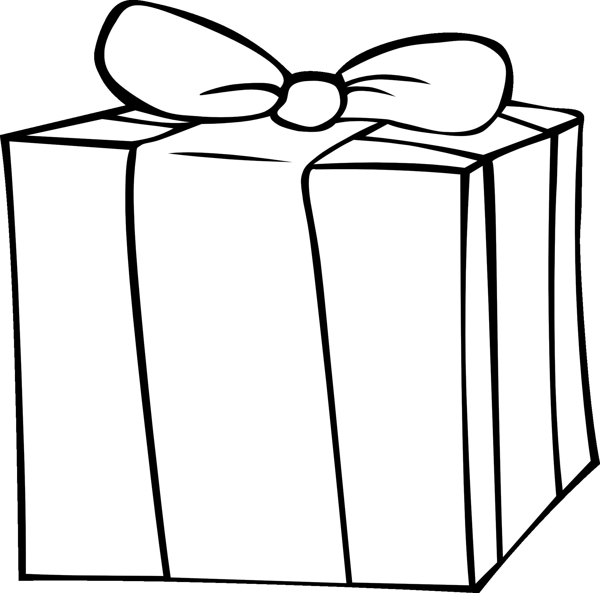 gift clipart outline