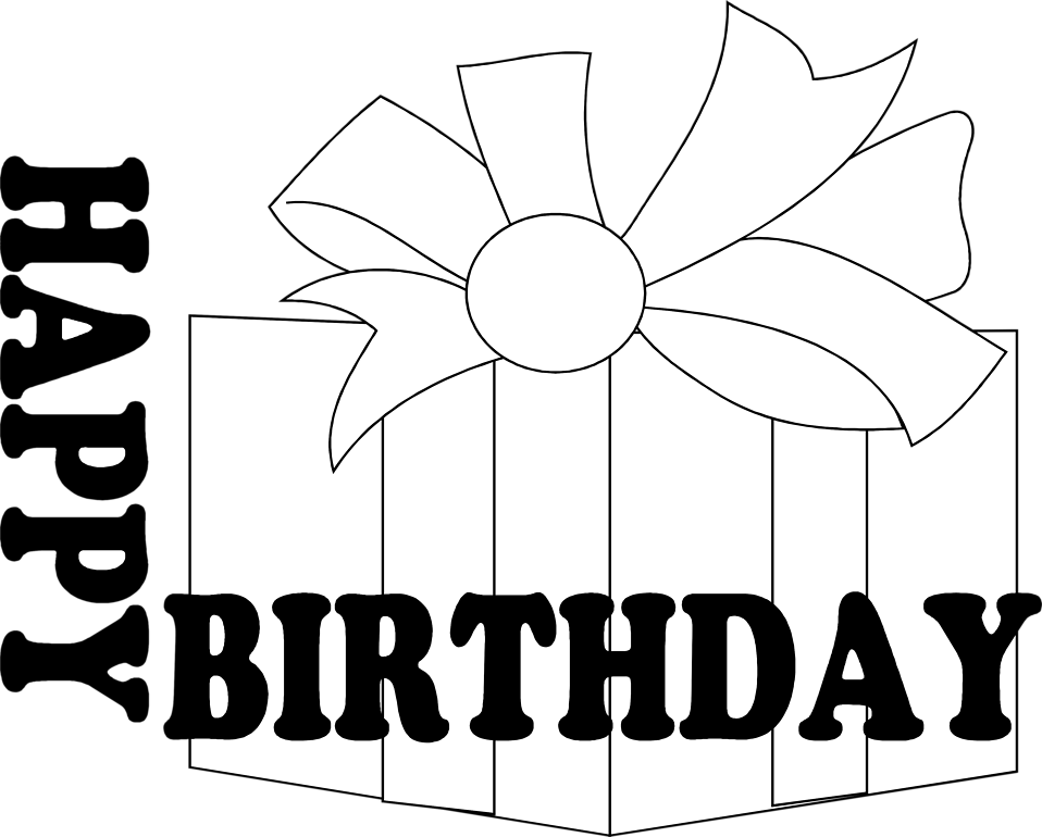 Birthday free stock photo. White clipart present