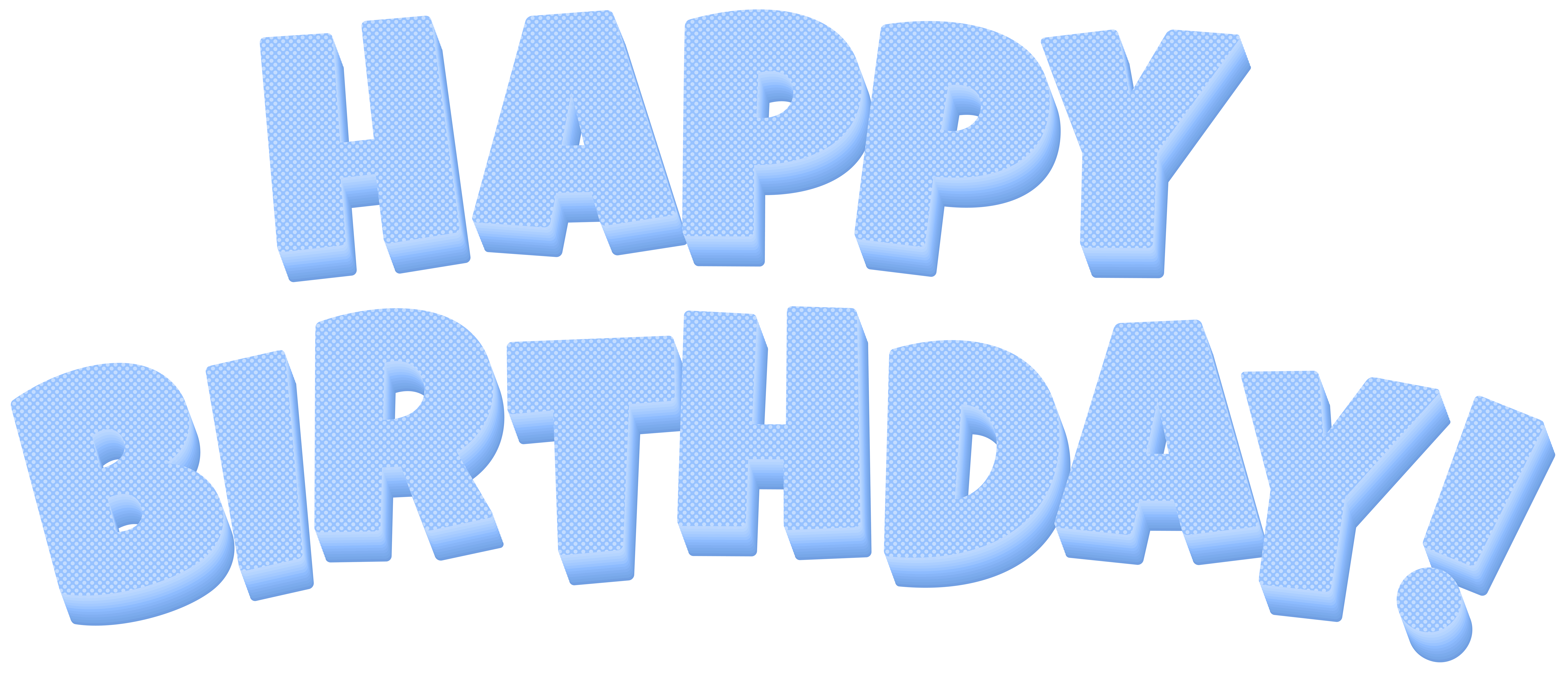 Birthday blue png clip. Clipart happy text