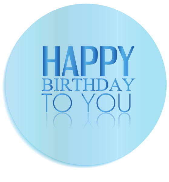 Transparent Oval Happy Birthday Decor PNG Clipart Picture