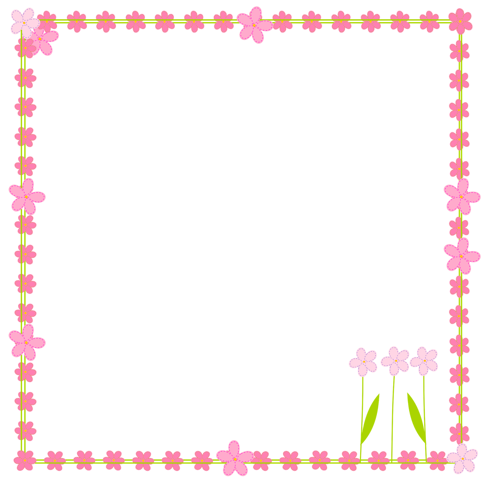 Square clipart pink square. Birthday clip art borders