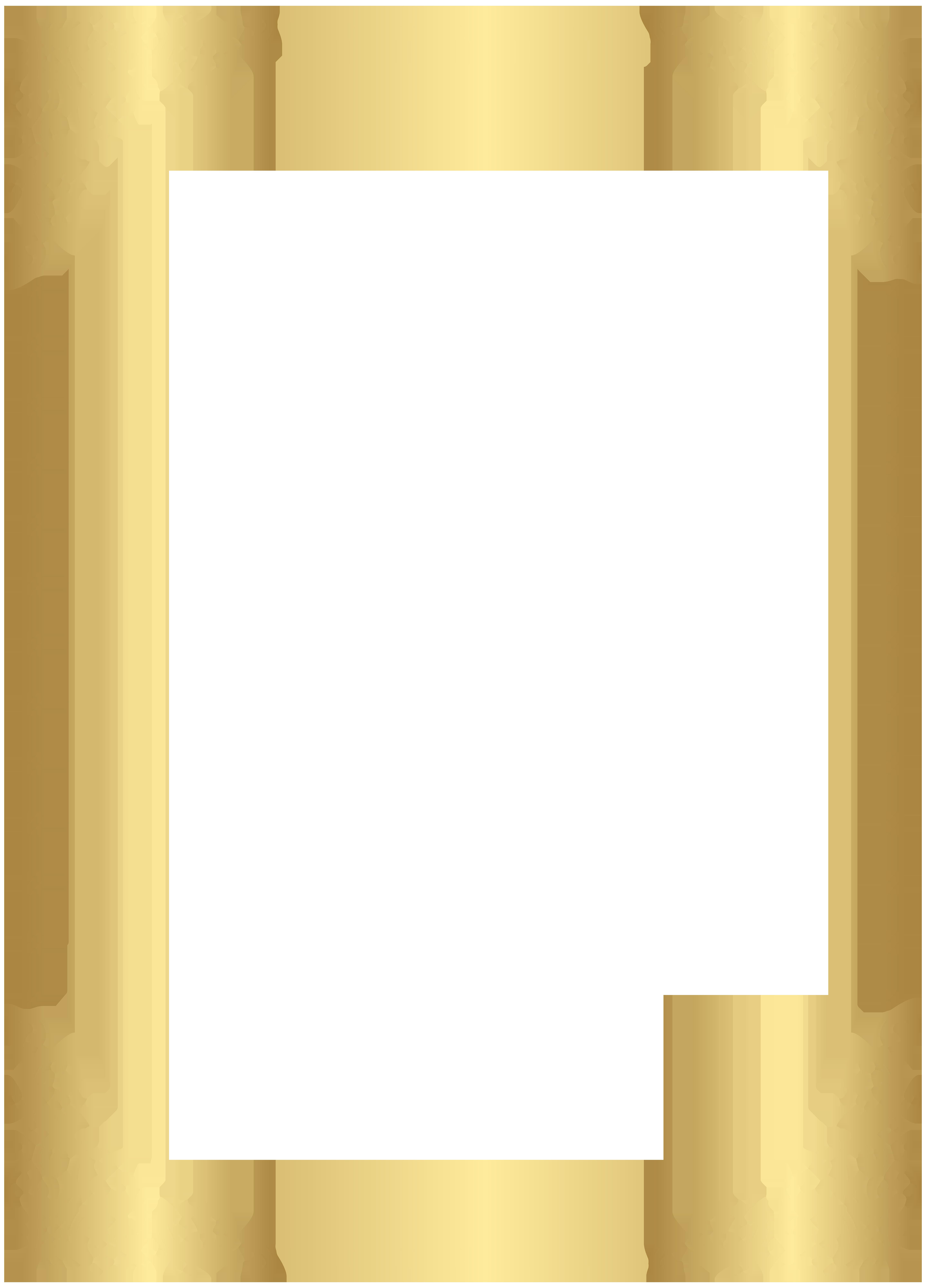 Gold border png. Frame transparent clip art