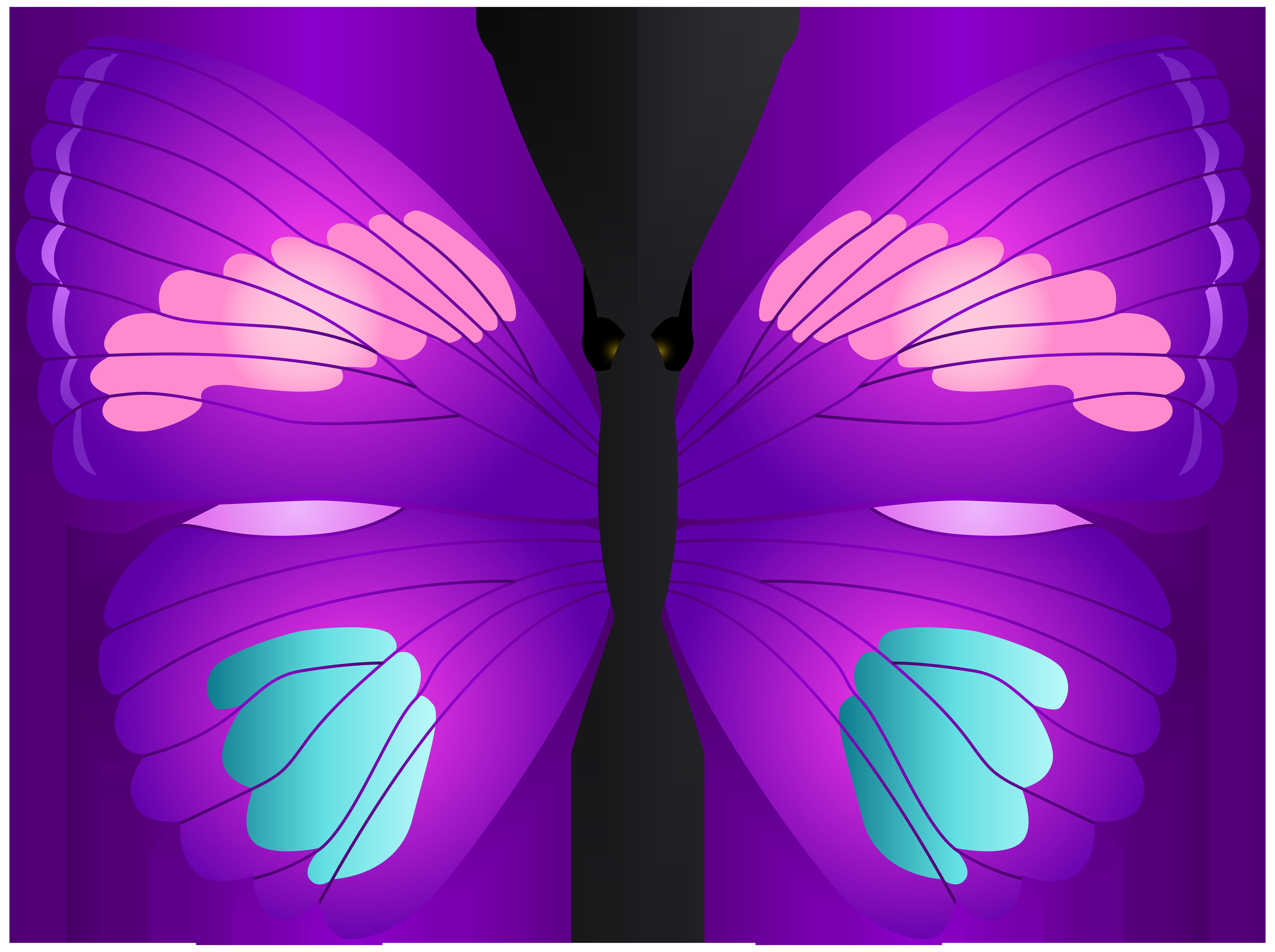 Transparent png clip art. Clipart butterfly violet