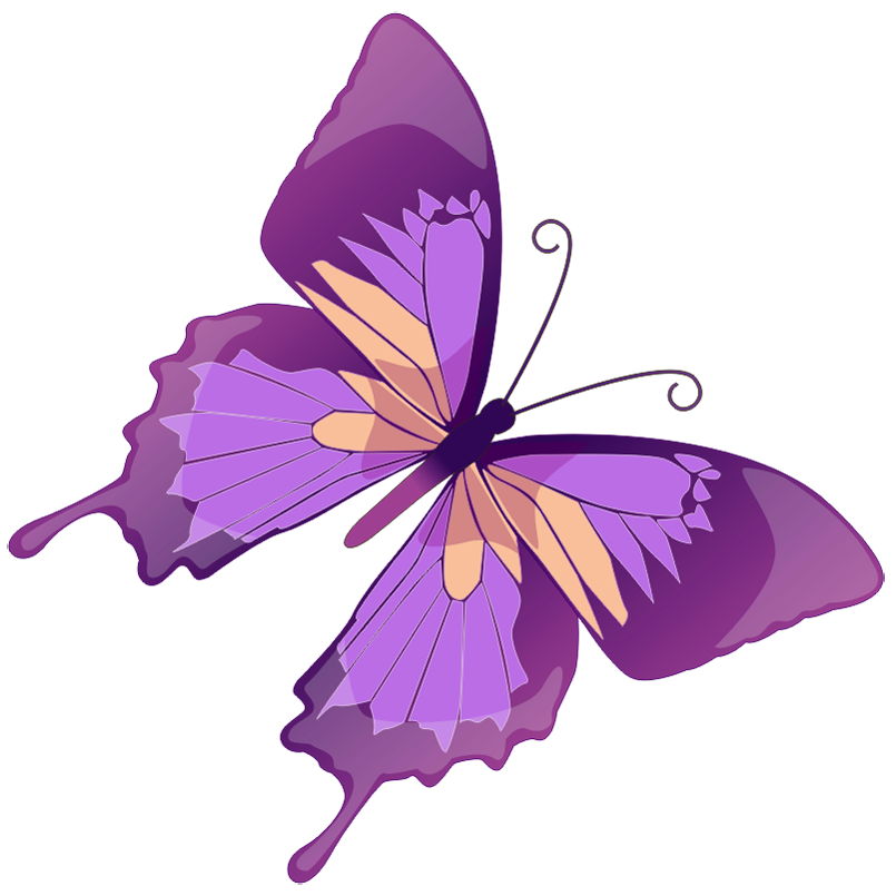 Purple clip art free. Glitter clipart small butterfly