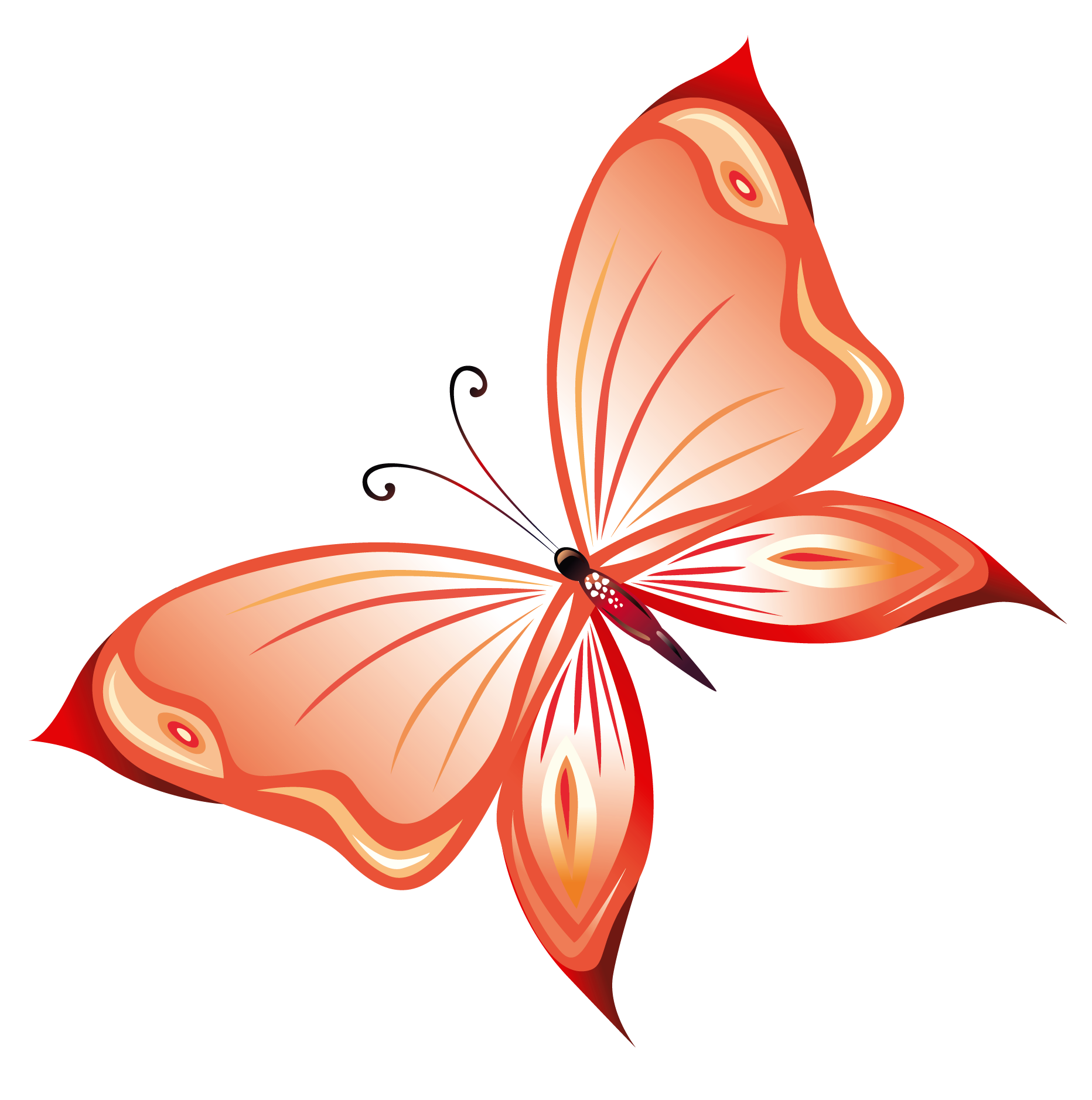 Clipart birthday butterfly. Transparent red png gallery