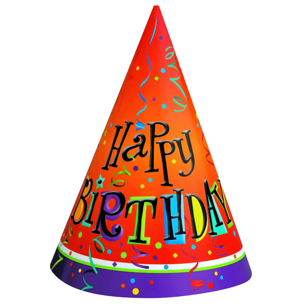 Cone clipart happy birthday. Hat transparent png stickpng