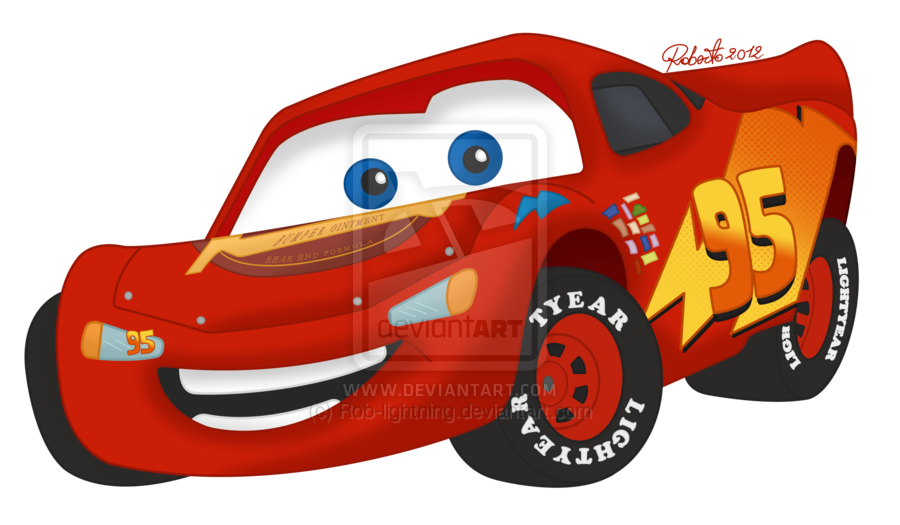 Clipart car lightning mcqueen. Colored by rob deviantart