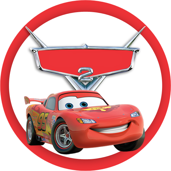 Adesivo redondo x png. Clipart birthday car