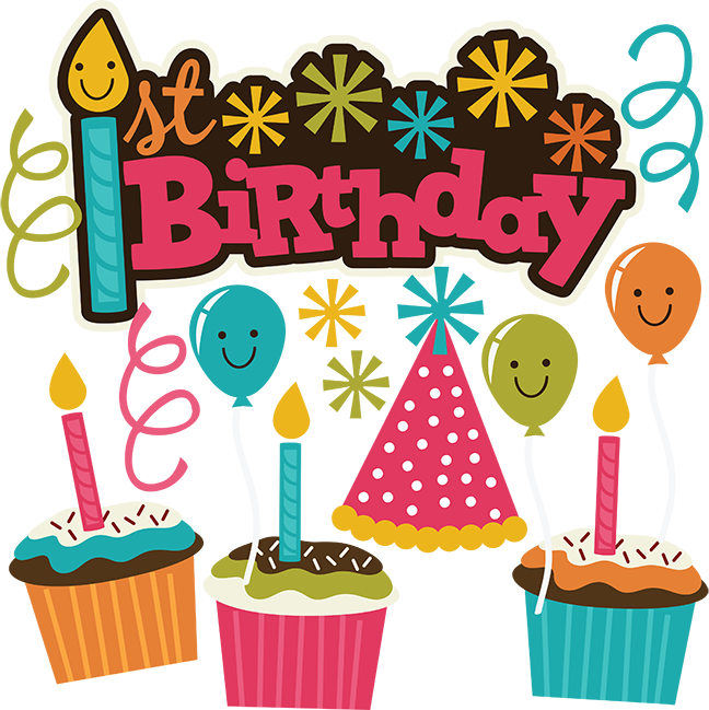 Scrapbook clipart happy birthday.  st svg collection