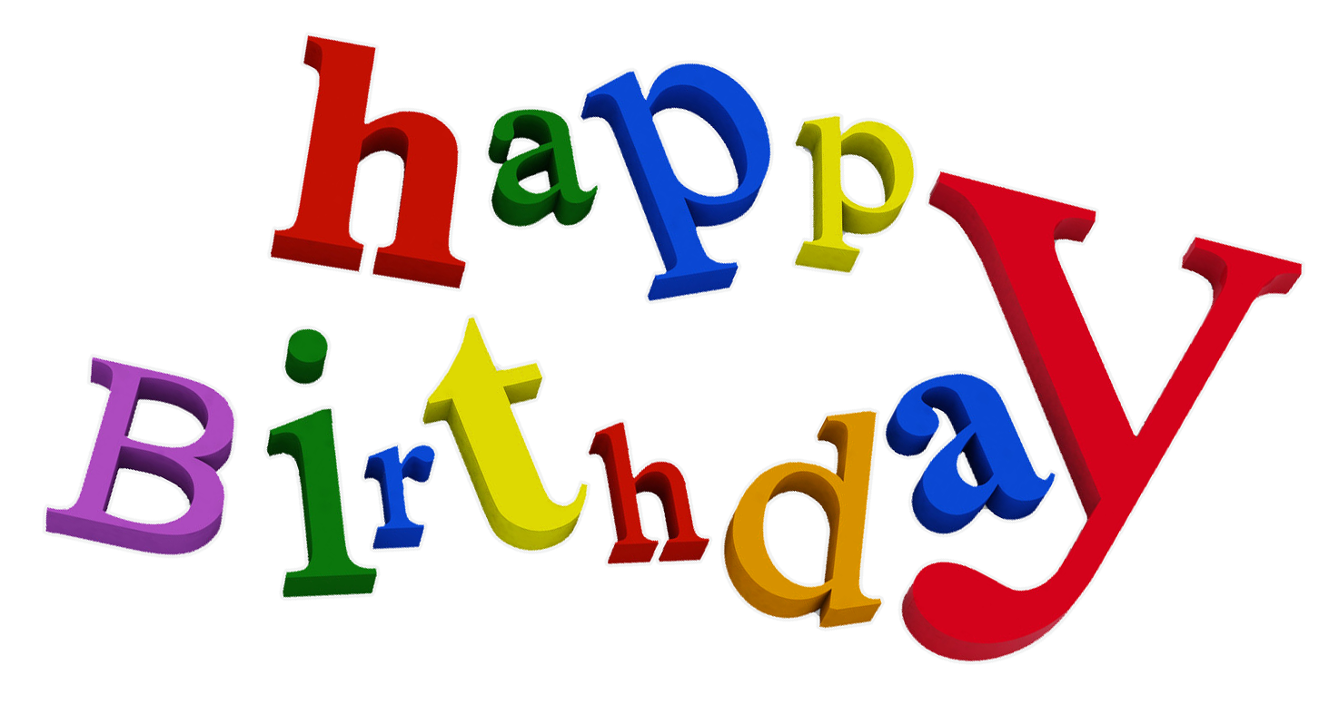 Happy birthday png images. Words clipart happiness