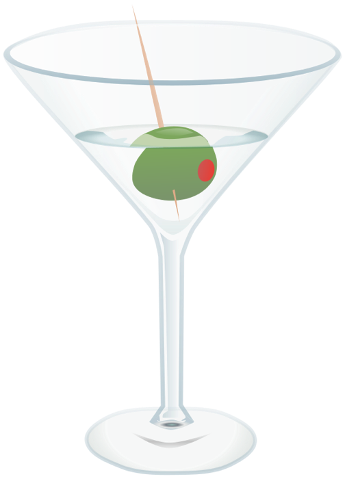 Clipart christmas cocktail. Of beer wine martinis