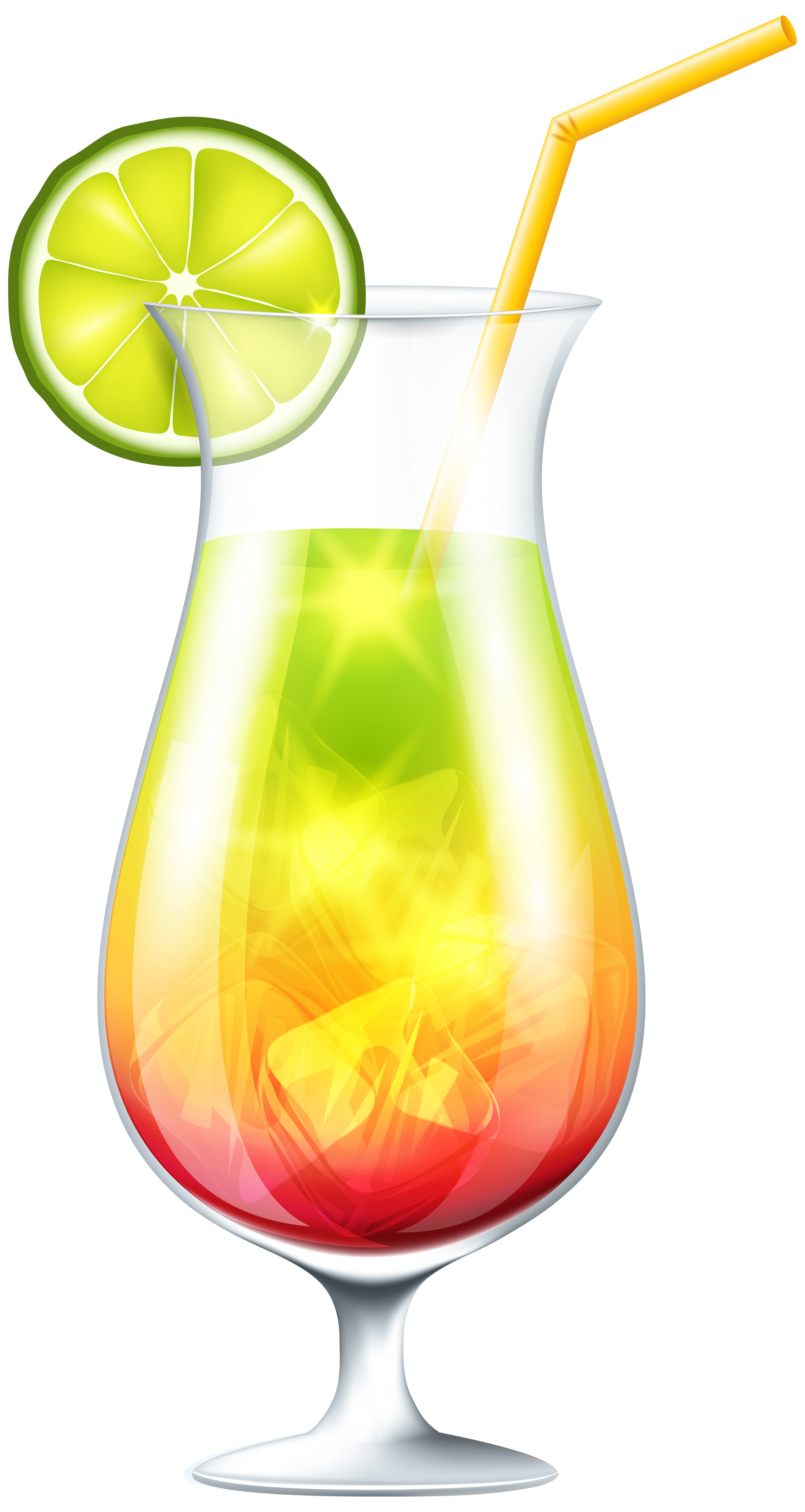 Cocktail with lime png. Cocktails clipart yellow