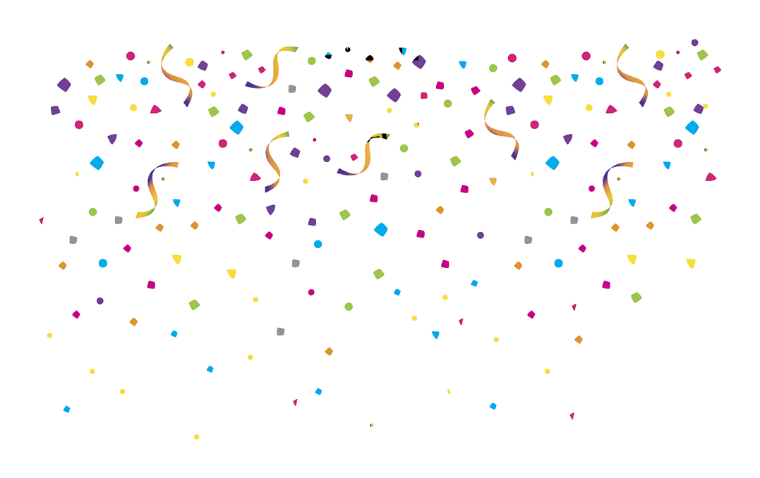 Streamers clipart clear background. Confetti transparent png pictures