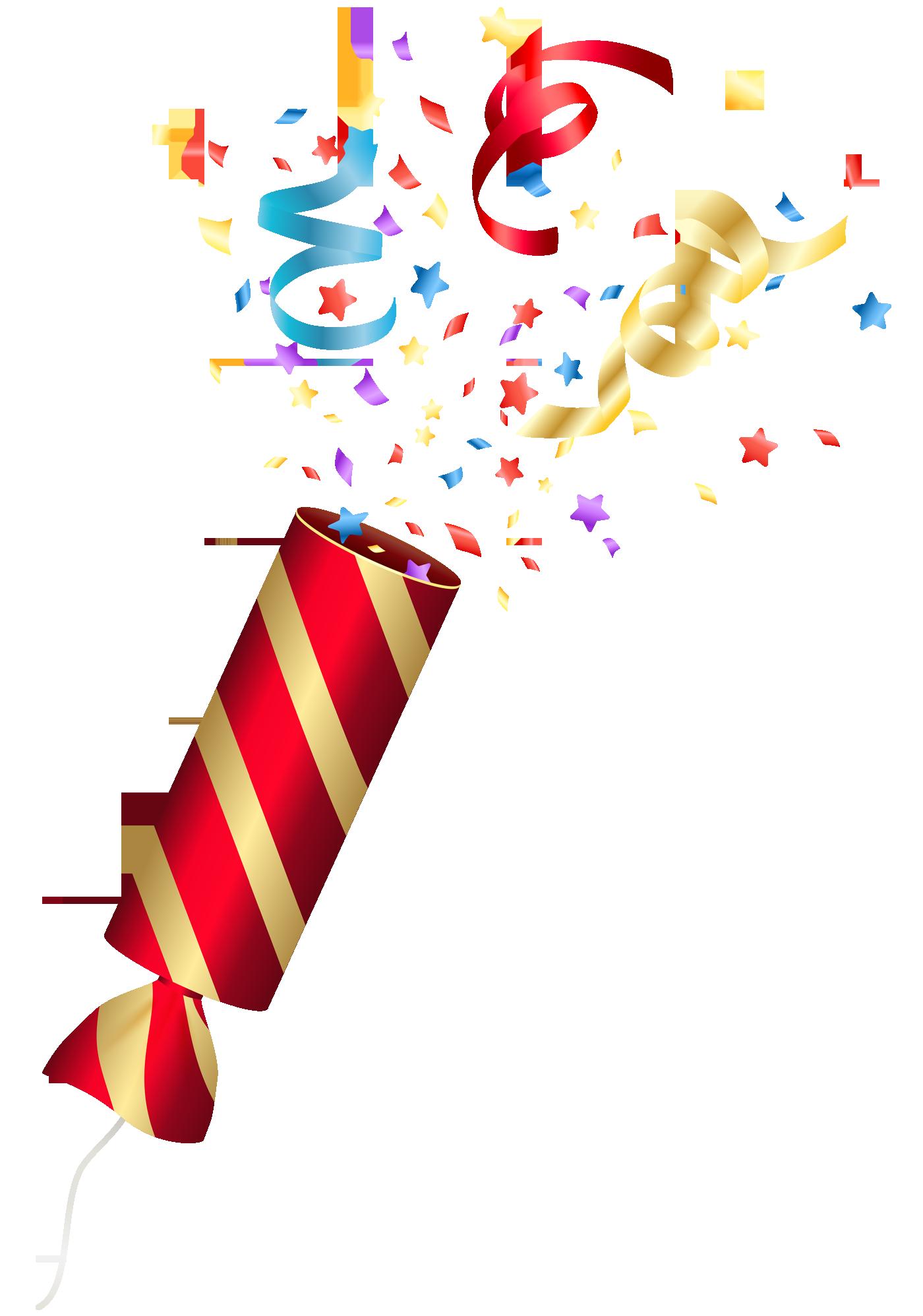 Birthday party blaster design. Clipart png confetti