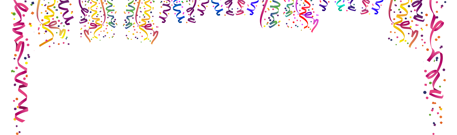 collection of clipart. Confetti border png