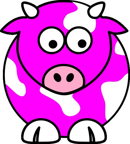 Clipart rose head. Pink cow clip art