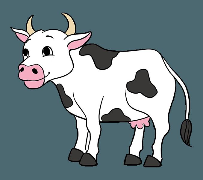 Pics of cartoon cows. Ox clipart pencil sketch