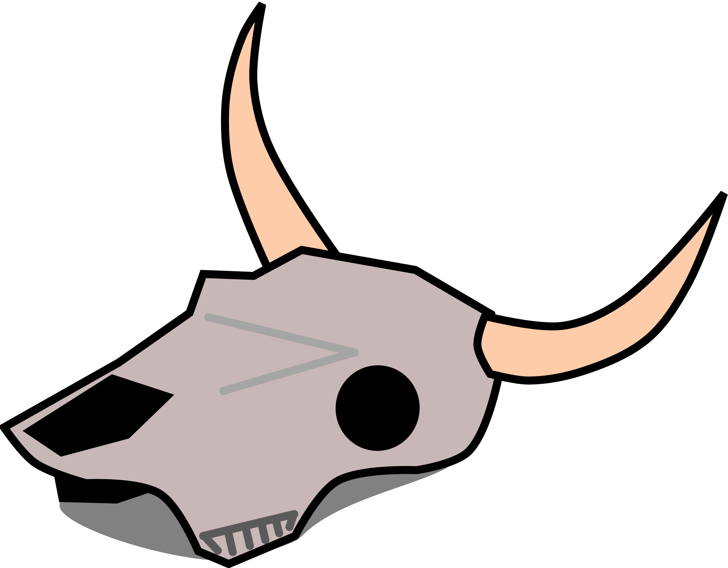 Cow skull clip art. Cowboy clipart skeleton