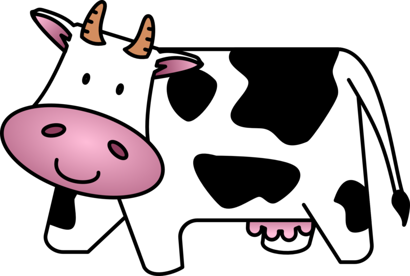 Free black and white. Clipart rainbow cow