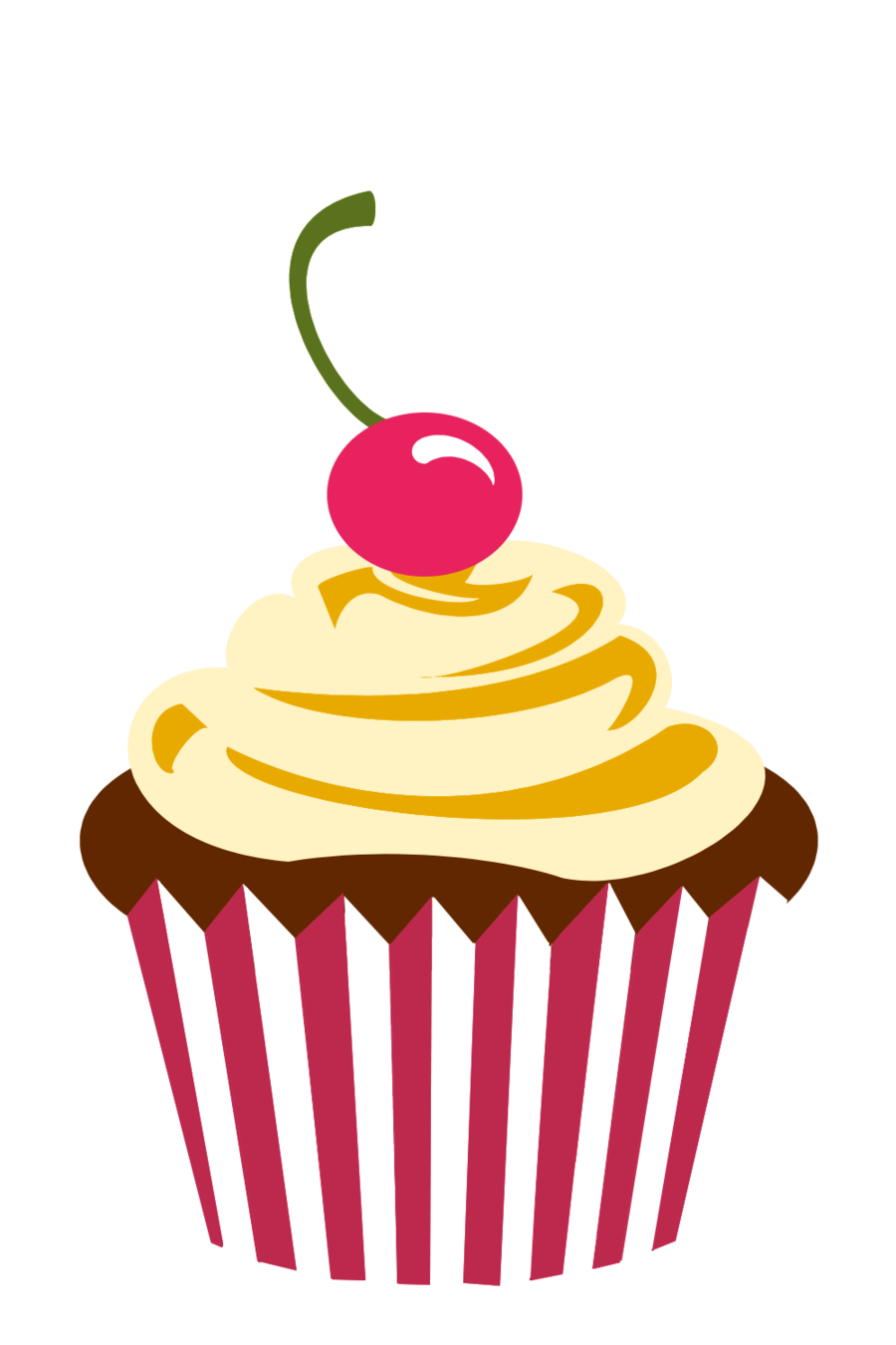 Logo png cherry chocolate. Clipart birthday cupcake