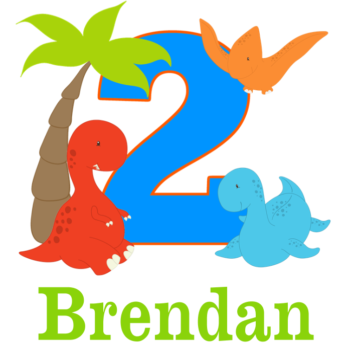 nd personalized t. Clipart birthday dinosaur
