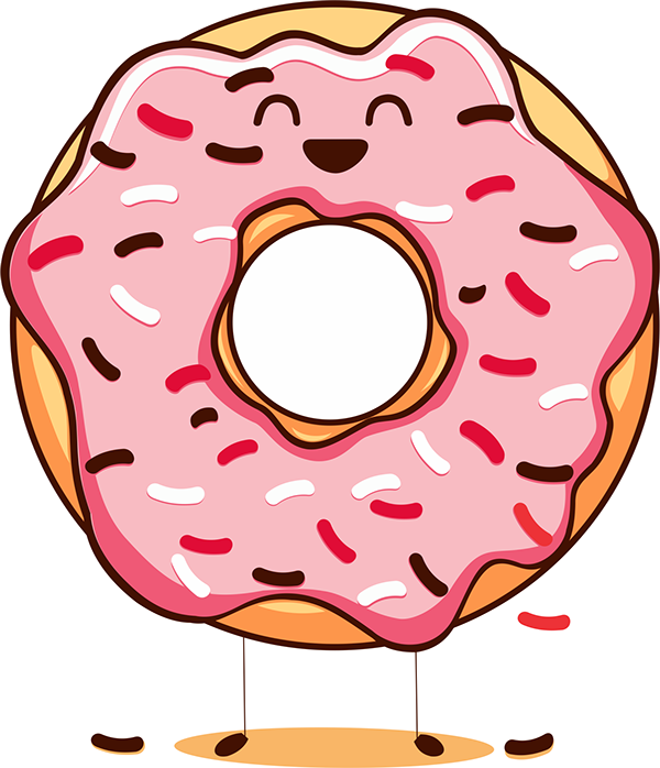 The history of national. Doughnut clipart happy donut