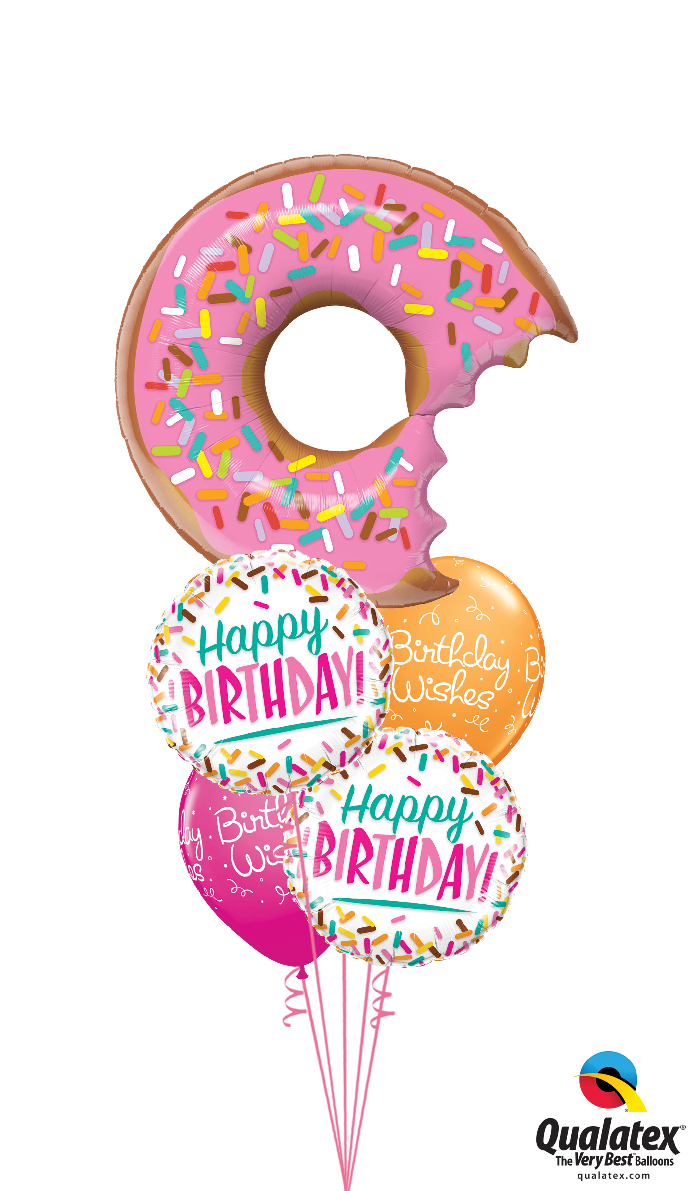 Doughnut clipart birthday. Classic donut balloon bouquet