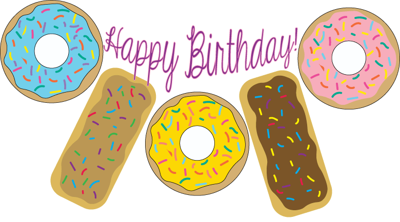 Clipart birthday donut. Printables