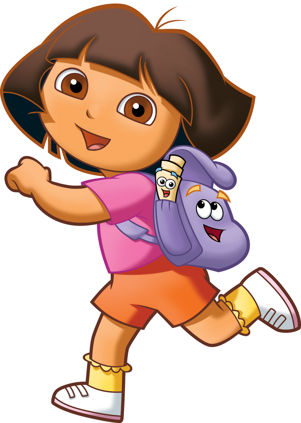 Cartoon characters the explorer. Clipart face dora