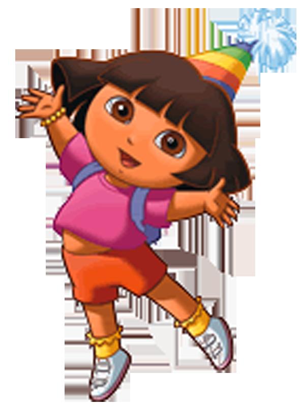Cartoon characters the explorer. Hello clipart dora