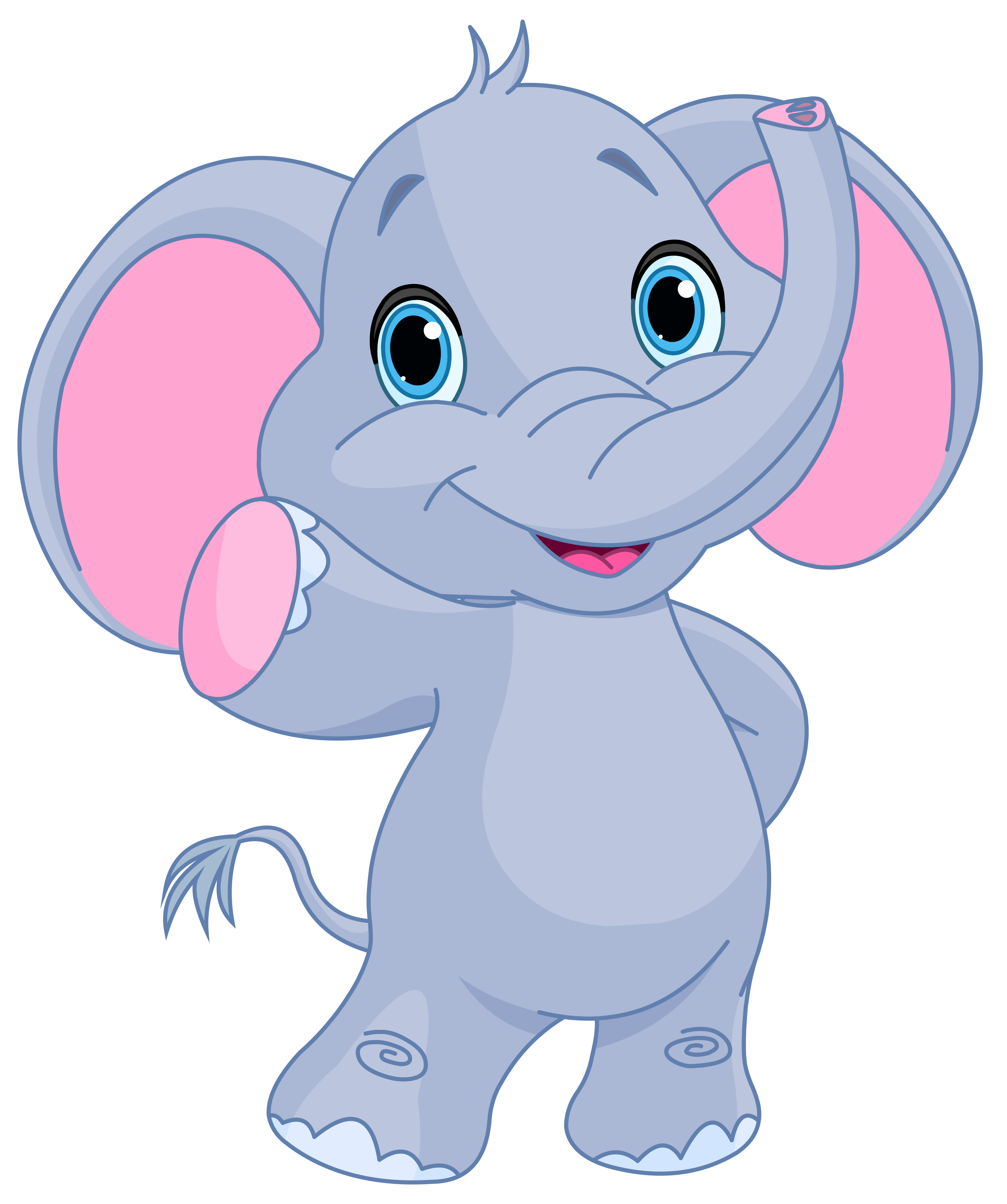 October clipart oct. Cute elephant png image