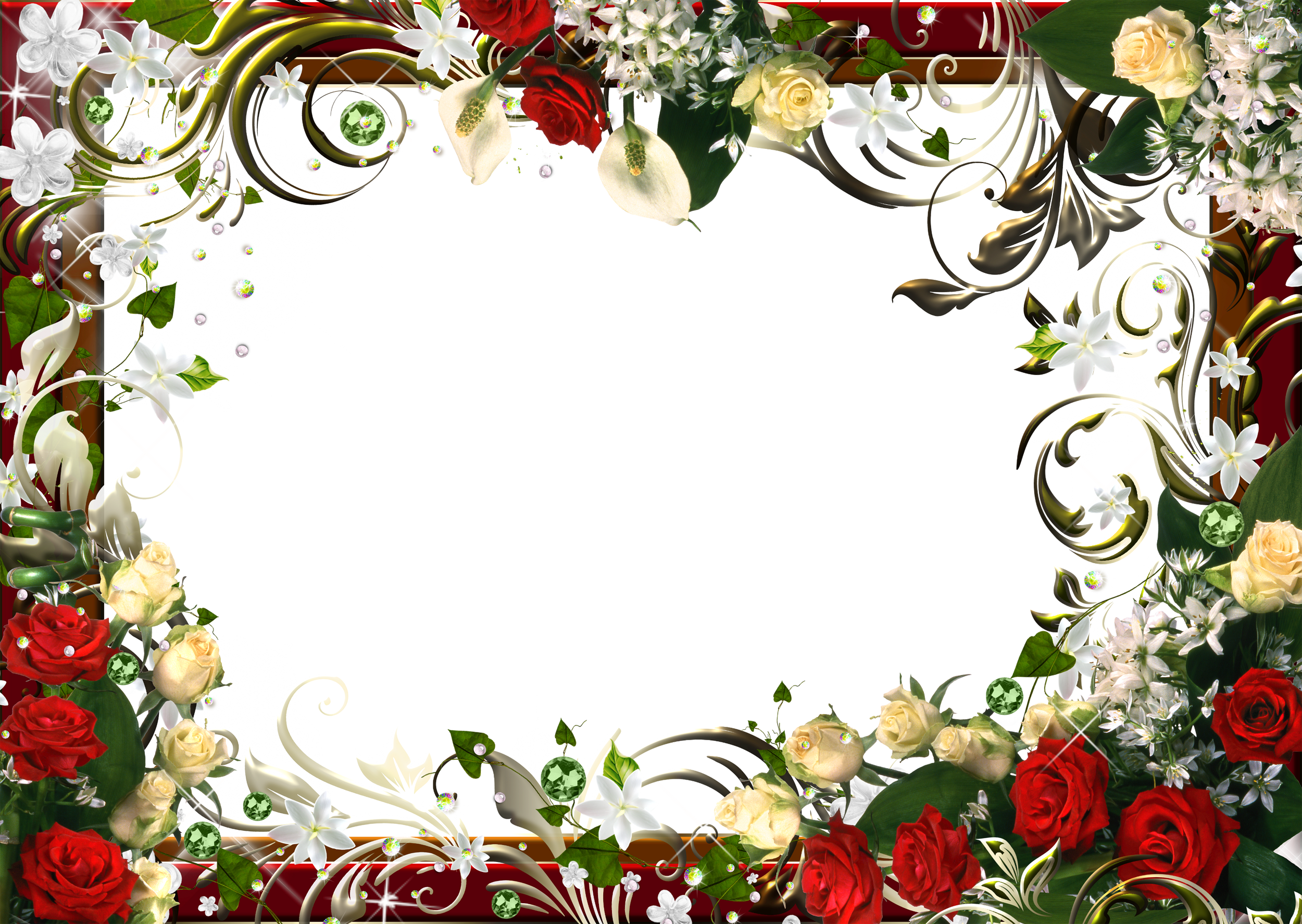 Clipart birthday floral. Flowers png frame pinterest