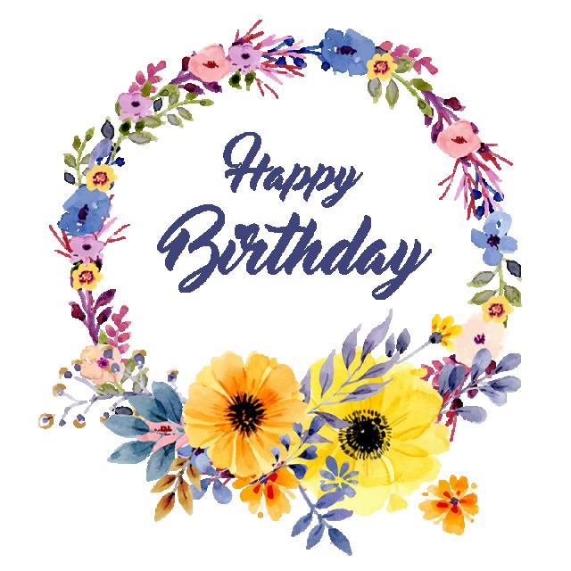 Vector floralbirthdayfloral vectorbirthday border. Clipart birthday floral