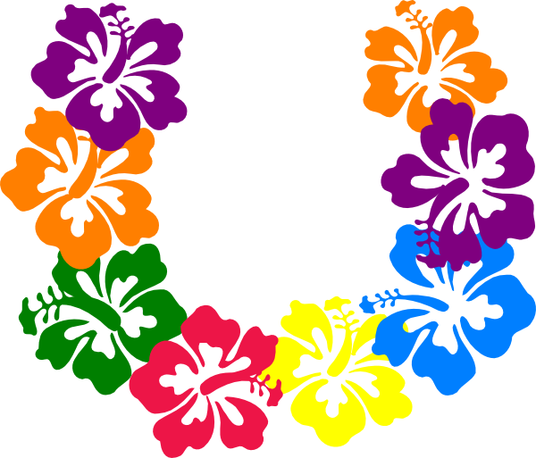 Clipart box flower. Hawaiian clip art hibiscus