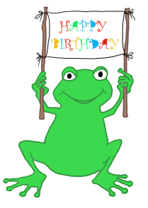 Birthday clip art and. Clipart frog party